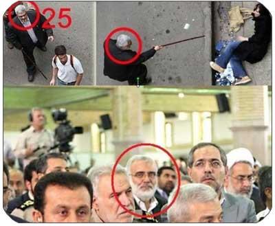 یک لباس شخصی در مراسم تنفیذ احمدی نژاد
