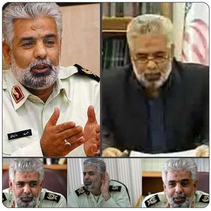 سردار احمدی روزبهانی (دو شغله : رئیس پلیس ناجا و کارمند ثبت احوال ؟!)